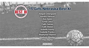 Faith Deines, Madilynne Warren (MPA MWC 06G) for being selected for NE State Soccer Best XI