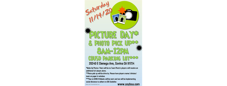 Photo Pick Up & Make Up Pictures POSTPONED TO 11/14/20!