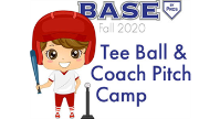 BASE BY PROS Fall 2020 Tee Ball & Coach Pitch Camp