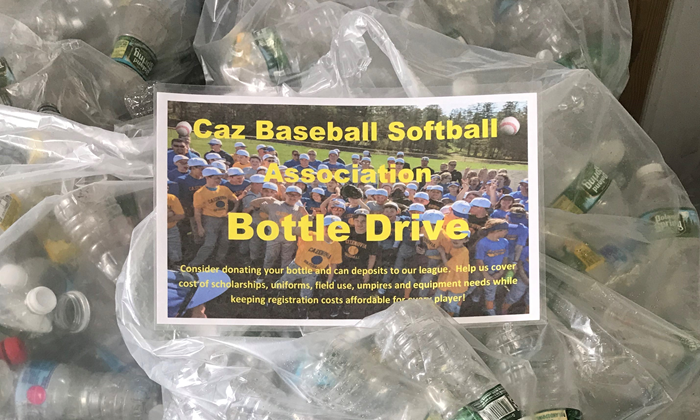 Donate bottles and cans at Caz Cans