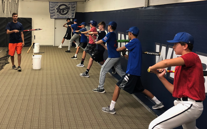 High level training at our indoor batting facility