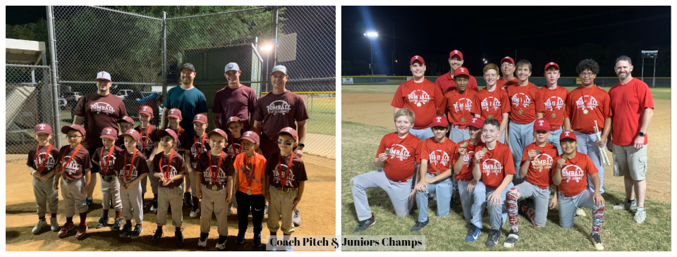 Coach Pitch & Juniors Champions
