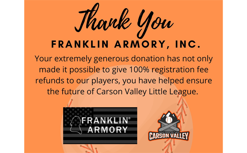 Thank You Franklin Armory!!