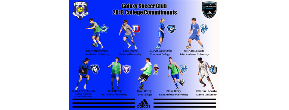 Galaxy SC 2018 College Commitments