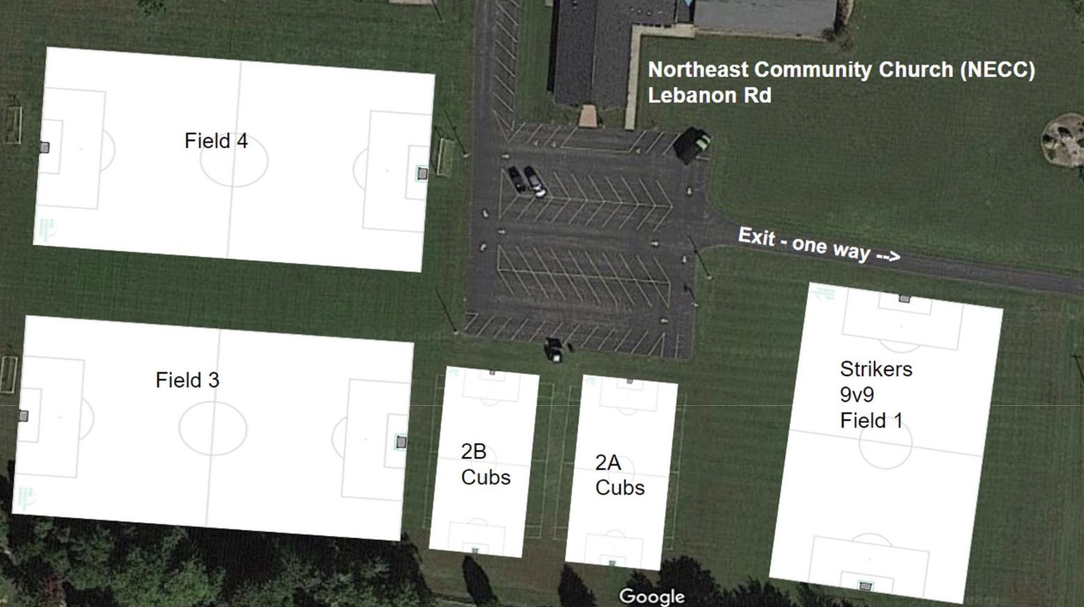 Field layout Northeast Community Church