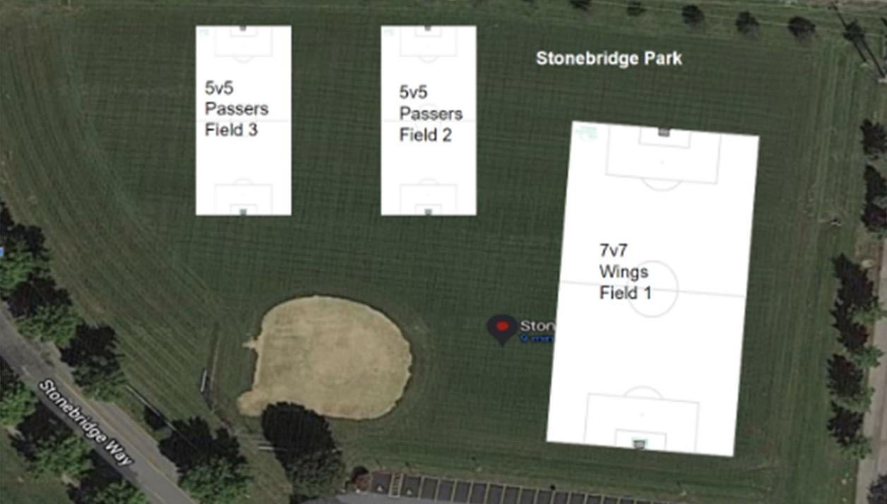 Field layout Stonebridge Park