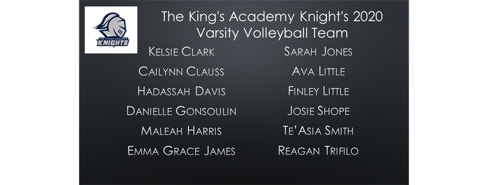 2020 Varsity Volleyball Roster