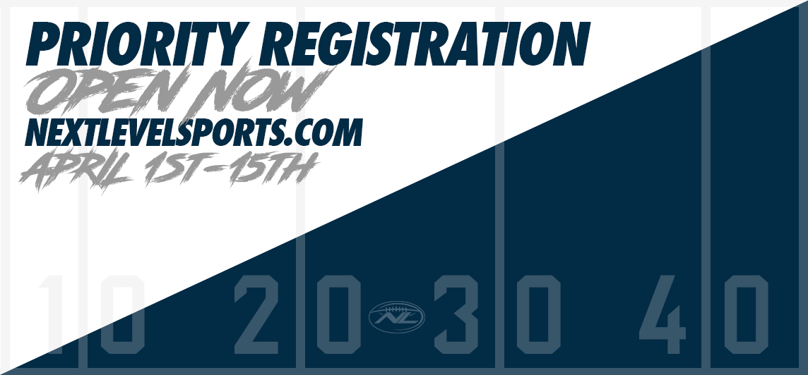 Priority Registration - Opens April 1st, 2020!