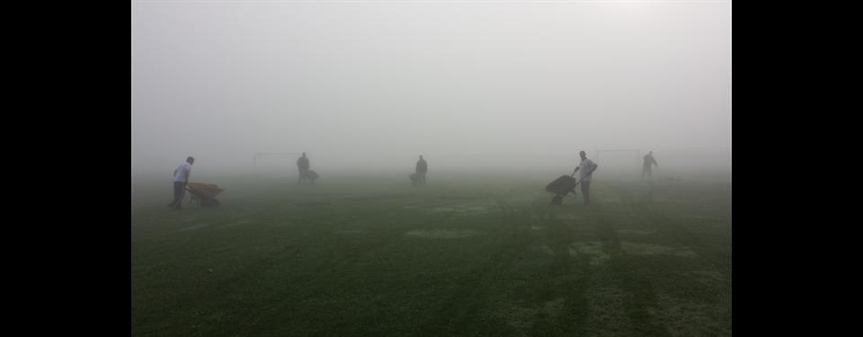 Early Morning Field Maintenance