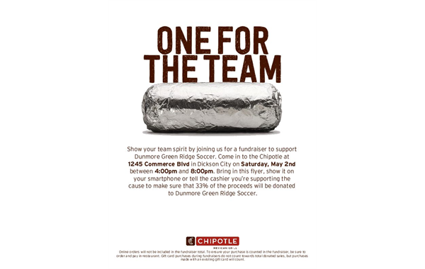 Chipotle Mexican Grill Fundraiser
