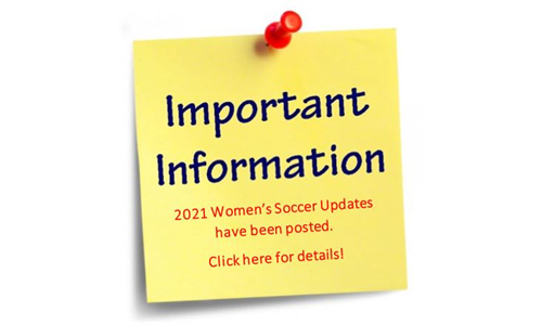 Important Information - 2021 Women's Soccer
