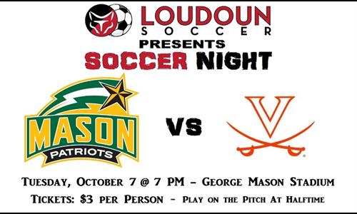 Loudoun Soccer Night: George Mason vs University of Virginia