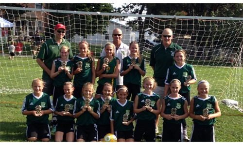 Dragons '02 (GU12) are Champs at Ridley Tournament