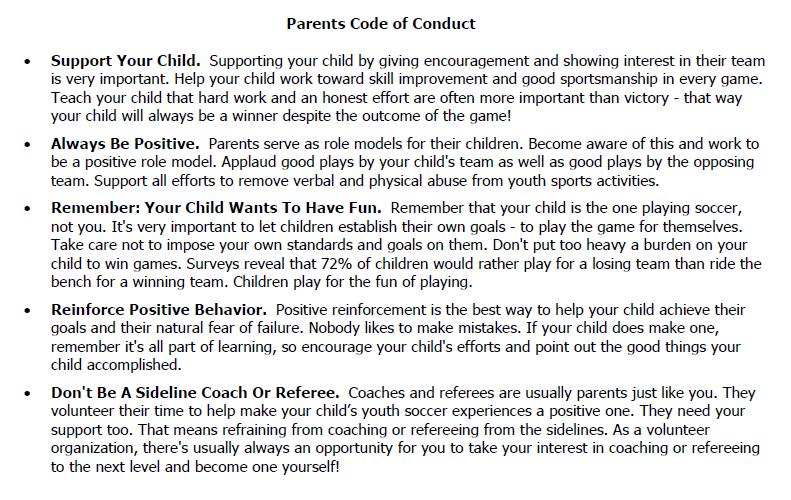 code of conduct of handbook