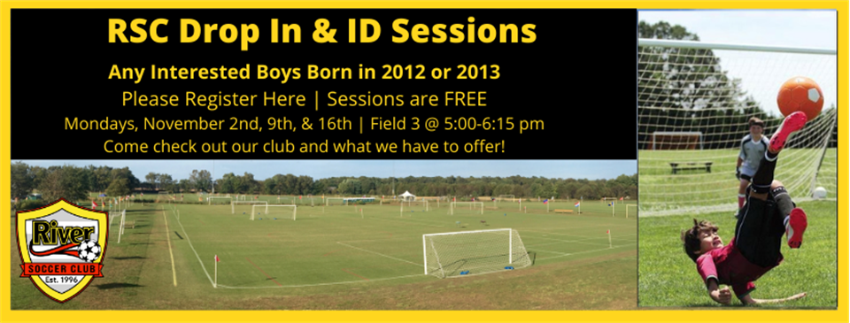 Calling all 2012 & 2013 Boys, Drop In Id Sessions!