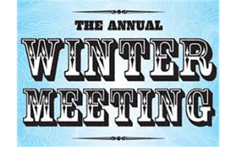 WINTER MEETING-DECEMBER 13th - See League News For Details