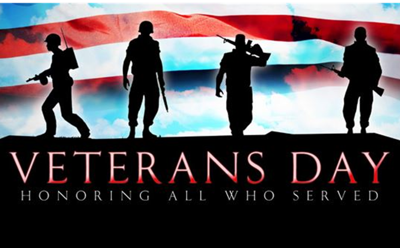 November 11 is Veterans Day - thanks to those who served!
