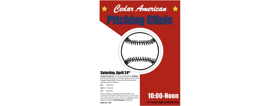 SOFTBALL Pitching Clinic