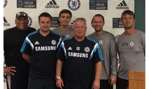 Coaches attend coaching conference with Chelsea FC Coaches