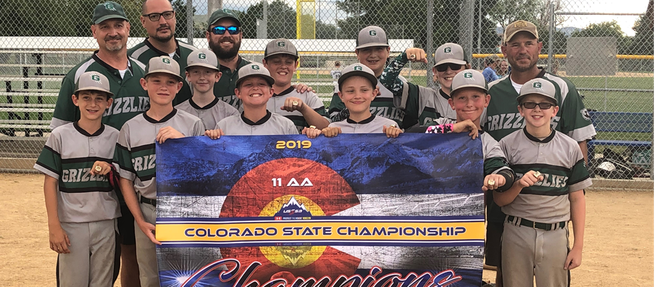 Longmont Grizzlies 2019 USSSA State Champions