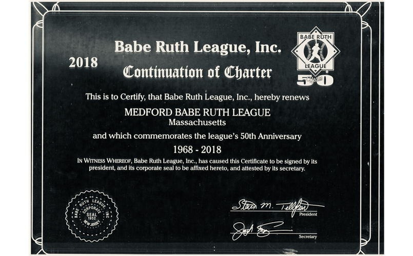 Medford Babe Ruth Charter Celebrates 50 Years