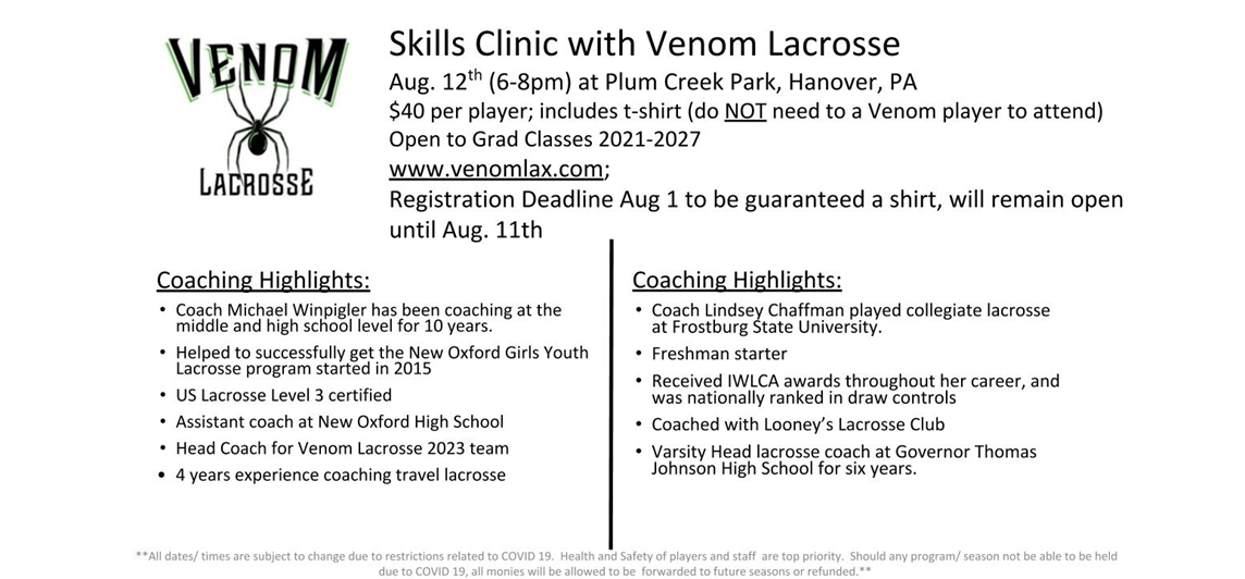 Skills Clinic- August 12