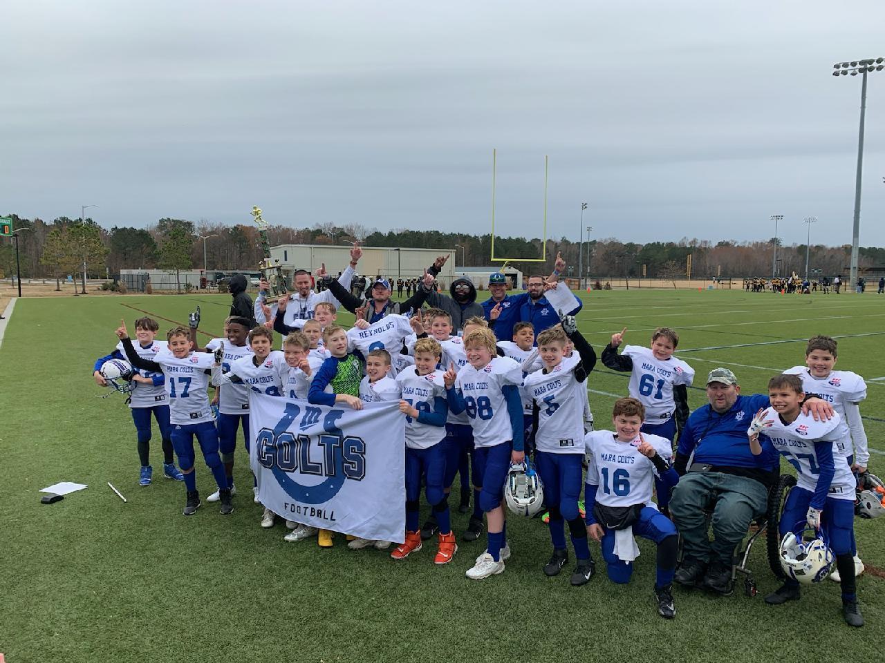 MARA Colts Tackle Football Championship team