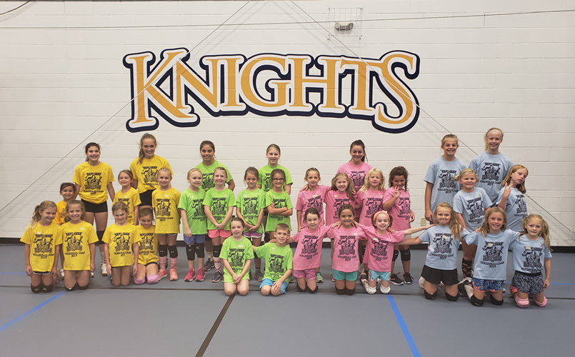 2019 1st and 2nd Grade Volleyball Skills Camp