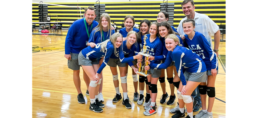JV Girls 2020-21 Volleyball Champions - Annunciation Catholic Academy