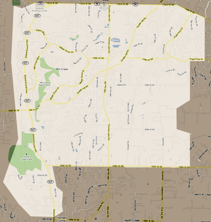 Mill Creek Little League Boundary Map