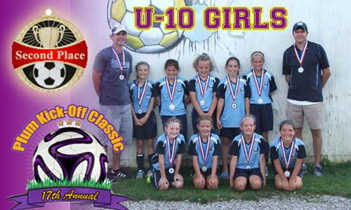 U10 Girls Second Place Winners @ Plum