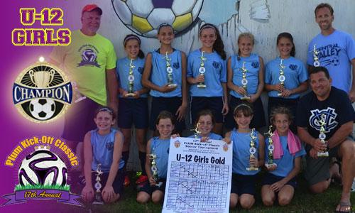 Plum U12 Girls Gold Division Champs