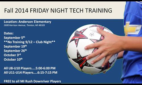 Friday Night Tech Training