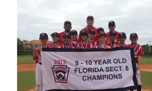9-10 year olds 2013 Sectional Champions