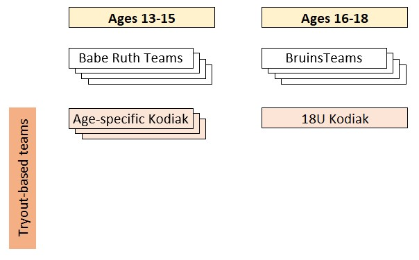 Sr Division structure, Babe Ruth