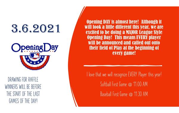 OPENING DAY 3.6.2021