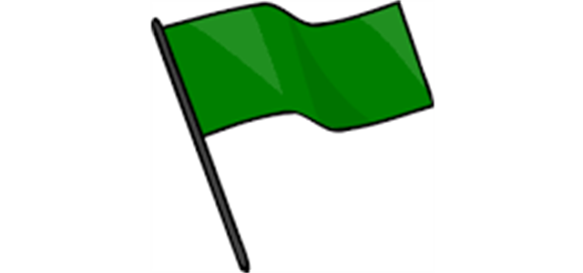 Green Flag - Please make sure to rake the fields