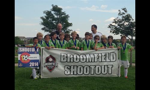 U11B Finalists in Broomfield Shootout
