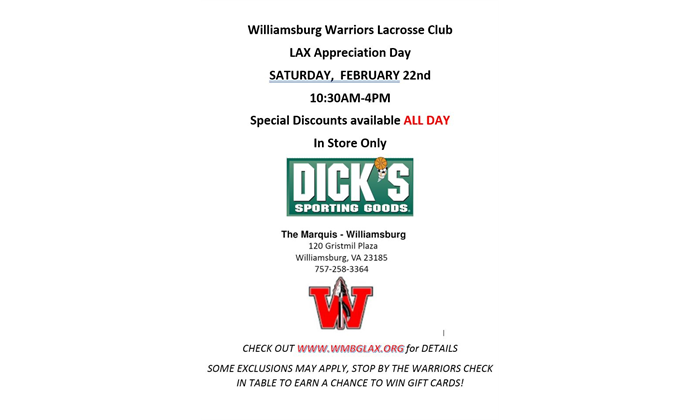 2020 Warriors Appreciation Day at Dick's!!!