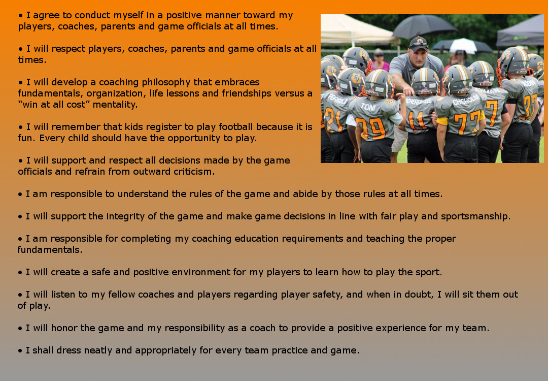 Fuquay Varina Youth Football and Cheer - Coach Code of Conduct