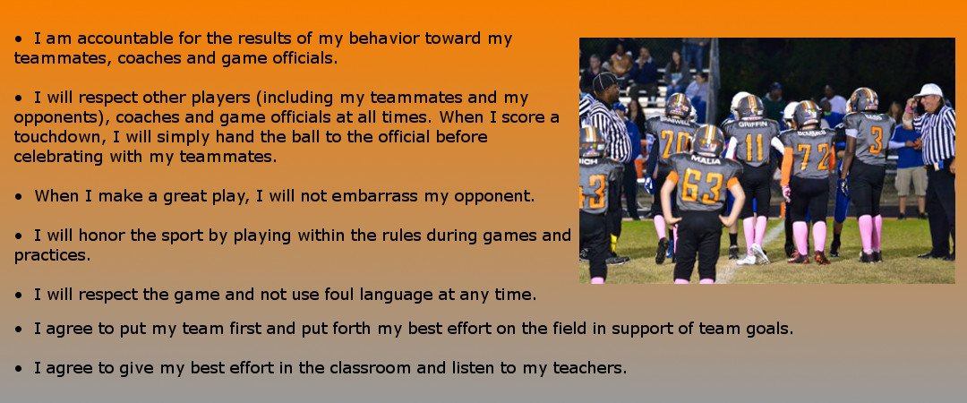 Fuquay Varina Youth Football and Cheer - Player Code of Conduct
