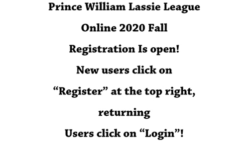 2020 Fall Registration is Open!  Click here for more information!