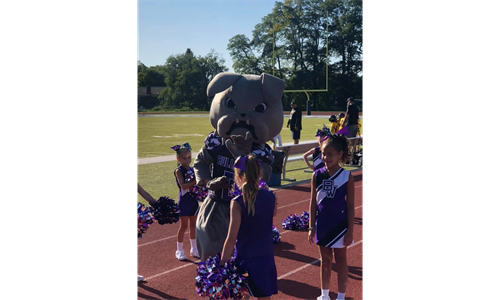 Blitz and our Cheerleaders!!
