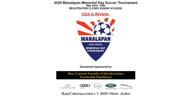 Memorial Day Tournament - Registration Open