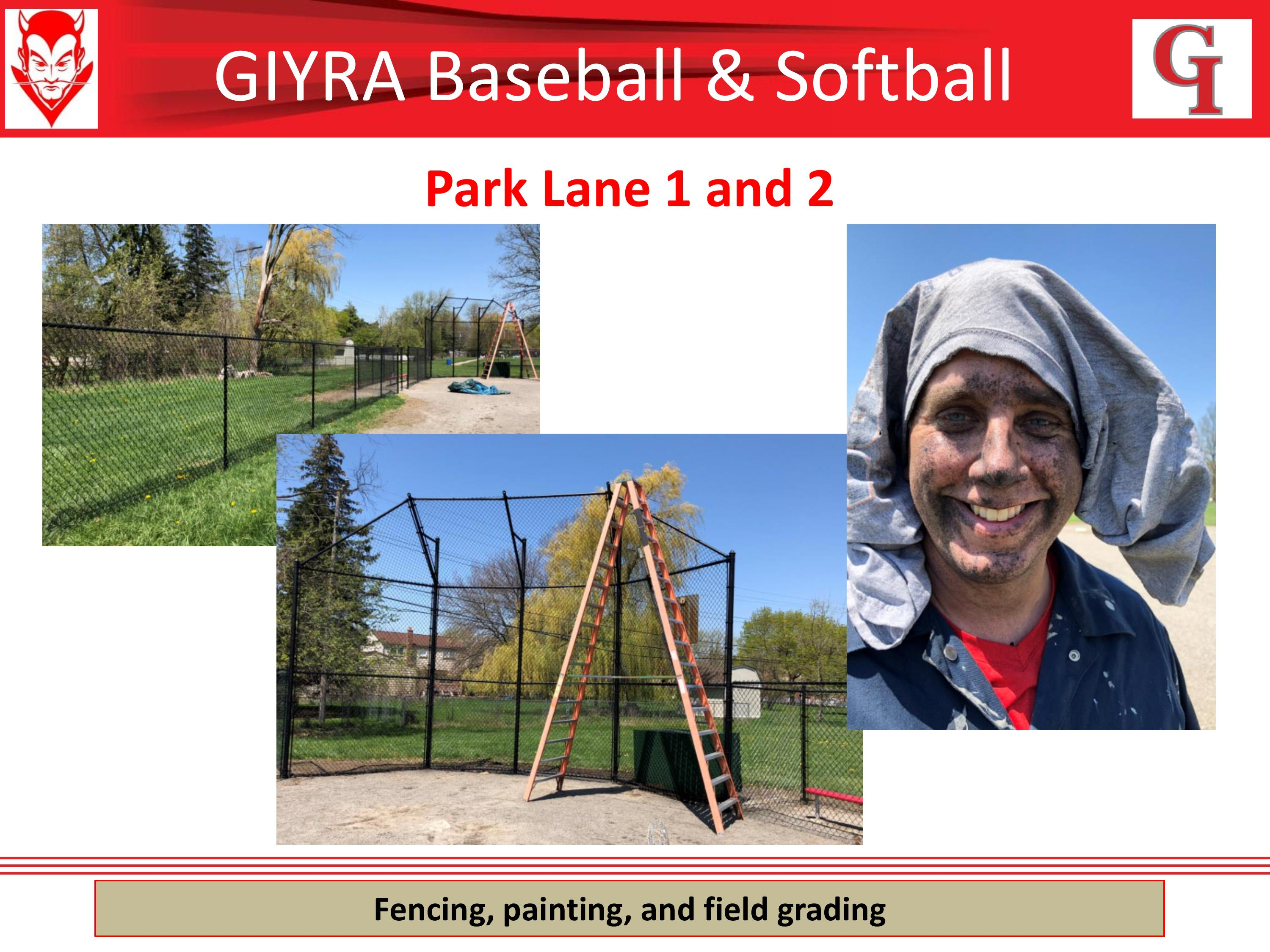 Park Lane fencing, painting, and field grading