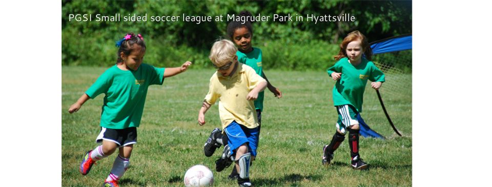 PGSI Small sided soccer league at Magruder Park in Hyattsville