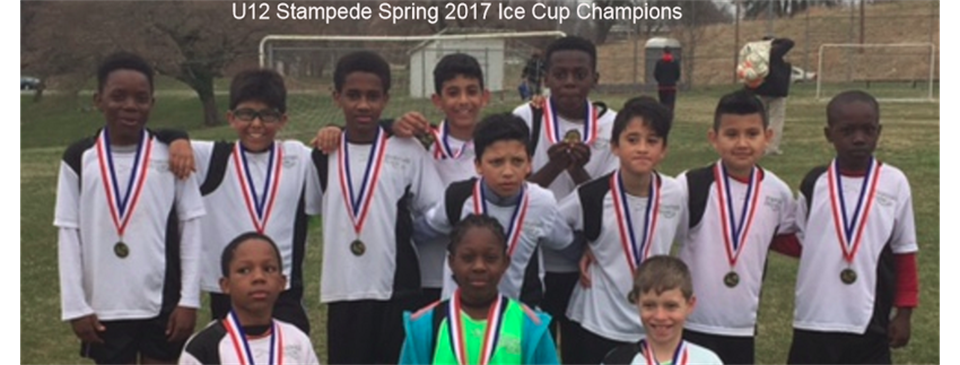 U12 Stampede Spring 2017 Ice Cup Champions