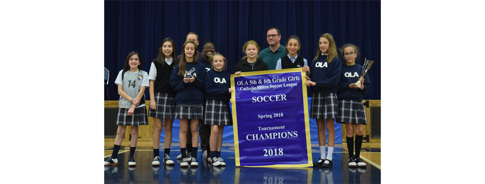 5th & 6th Grade Girls Soccer Spring 2018 Tournament Champions