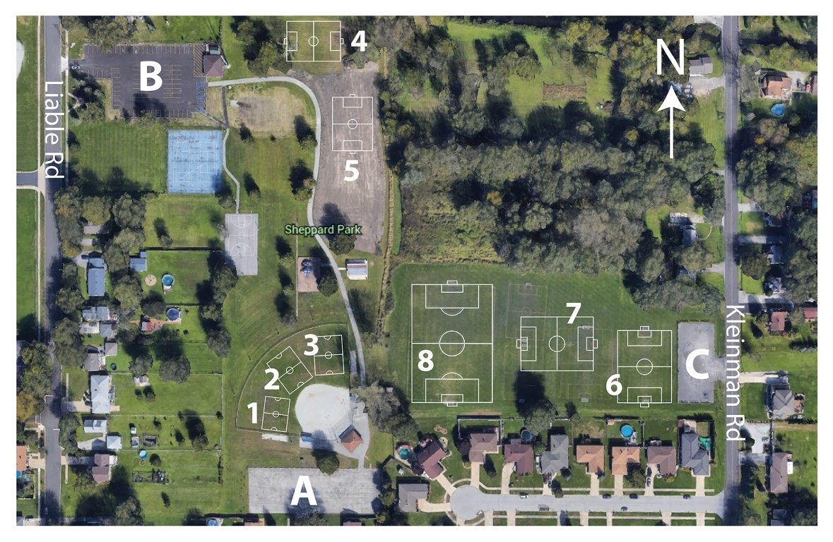 Spring 2019 Field layout