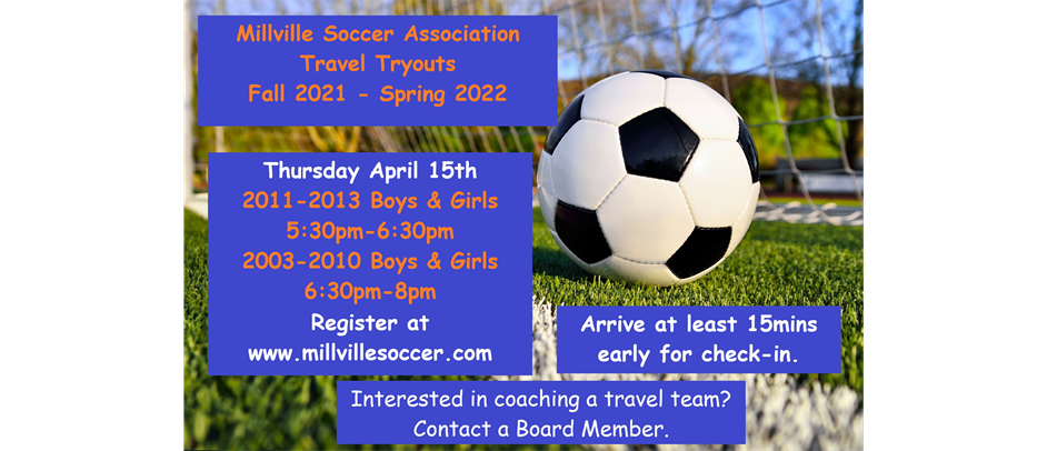 Fall 2021 - Spring 2022 Travel Tryouts